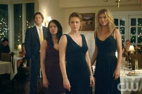 """What Is and What Should Never Be"" --(L-R) Jared Padalecki as Sam, Michelle Borth as Carmen, Samantha Smith as Mary Winchester and Adrianne Palicki as Jessica Moore star in SUPERNATURAL on The CW. Photo: Sergei Bachlakov / The CW ©2007 The CW Network, LLC. All Rights Reserved."