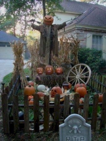30 Creepy Halloween Decor for Frontyard Halloween decorations - best decorated houses for halloween