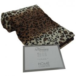 Coperta plaid pile leopardato in morbida pelliccia ecologica 130x160 cm H082  #plaid #animalier #fashion #home #homedecor #arredo #carillobiancheria #relax #biancheriaperlacasa