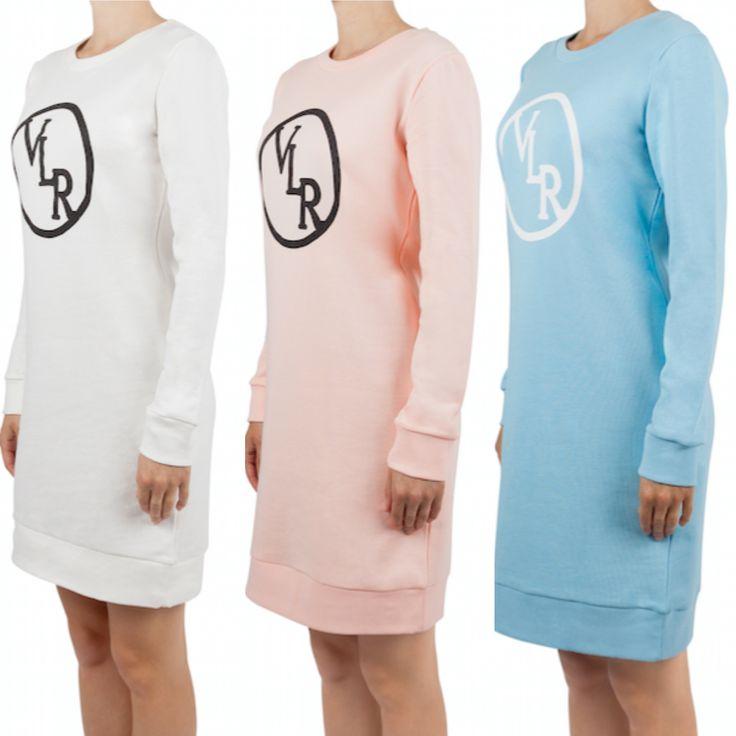 De nieuwe frisse kleurtjes van onze VLR sweaterdress! Kan gedragen worden als jurk. Shop die van jou op www.voyarlarue.com/shop verkrijgbaar in het wit, zalm roze en licht blauw
