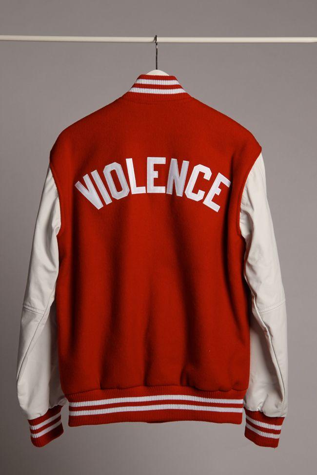 """PLD """"Violence"""" Varsity Jacket"""