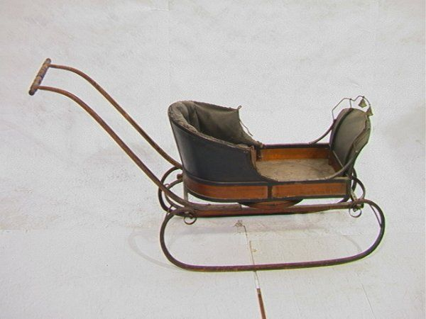 Antique Sleds | Antique Victorian Baby Sled with Bells. Original : Lot 720