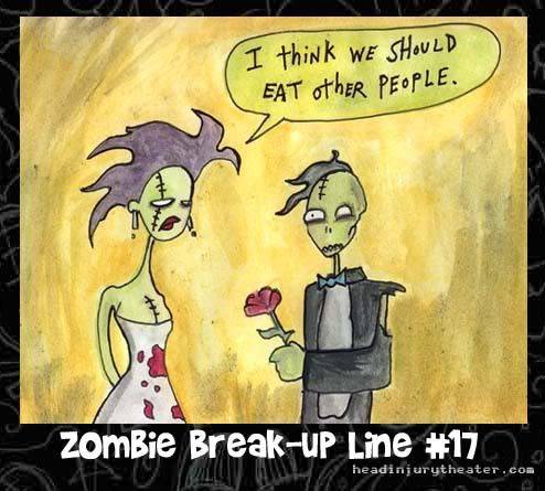Google Image Result for http://i319.photobucket.com/albums/mm476/foxeni/comic20zombie20break-up20line20jare.jpgWalks Dead, Funny Pictures, Zombies Apocalyps, Zombies Humor, Zombies Breakup, Eating, Funny Stuff, Things, Zombies Breaking