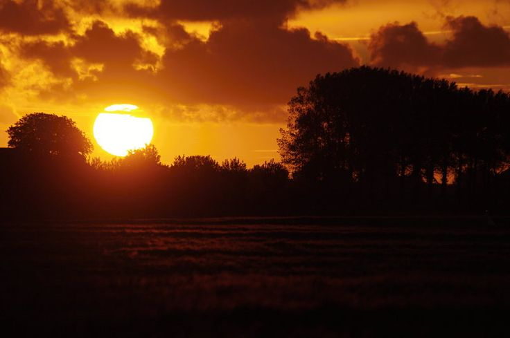 sunset in holand