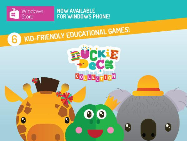 Duckie Deck for Windows 8 and Windows Phone! www.windowsphone.com/en-us/store/app/duckie-deck-collection-educational-games-for-kids/16ada9a4-873e-4214-9af0-0bb28561e496