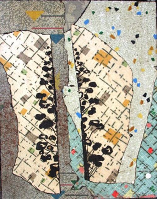 Bruce Reynolds Split Hoop_2003 Linoleum, synthetic resin on wood