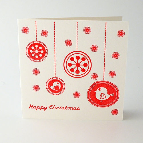 'Flurry' Letterpress Christmas Card