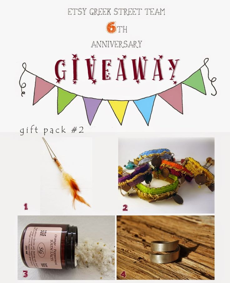 Etsy Greek Street Team: Etsy Greek Street Team 6th Anniversary Giveaway!