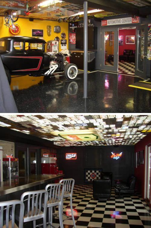 wonderful Cool Garage Ideas Guys Part - 7: Every man needs a cave to call his own (54 Photos). Cool GaragesGarage ...