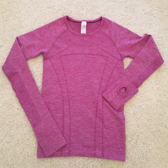 Ivivva Fly Tech Long Sleeve Tee In excellent condition! Looks brand new, only wore a few times! Ivivva kid's size small. Make me an offer, no trades lululemon athletica Tops Tees - Long Sleeve