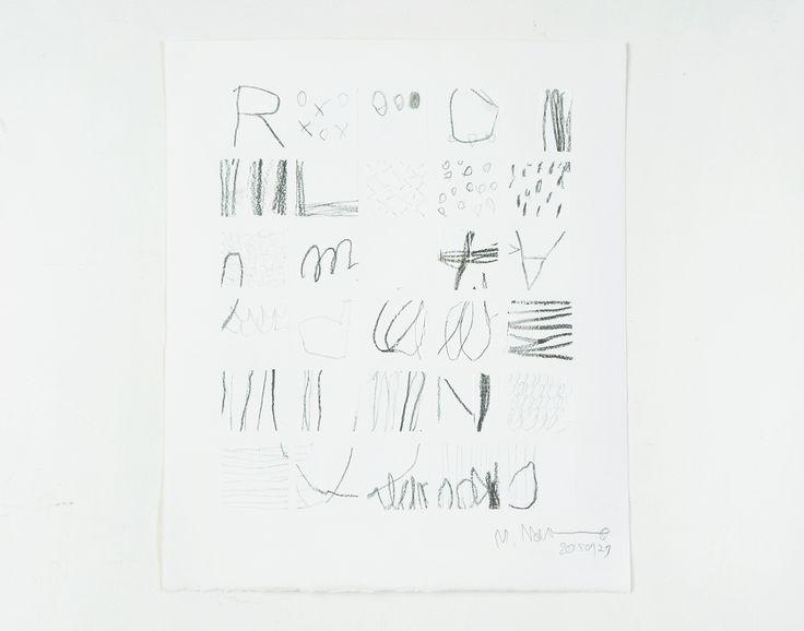 "From ""The Tile work Series"": Tairu no koe → The Sound of Tiles  シリーズ:小石とタイルのかけらたち より たいるのこえ   (2015) ファブリアーノ紙 350g に アクリル絵具と鉛筆 350x300mm  ☆Commissioned work☆"