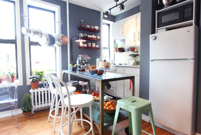 my kitchen, for apartment therapy; july 2, 2012Storage Solutions, Kitchens Organic, Apartments Therapy, Small Kitchens, Smart Kitchen, Painting Colors, Small Spaces, Kitchens Storage, Apartments Kitchens