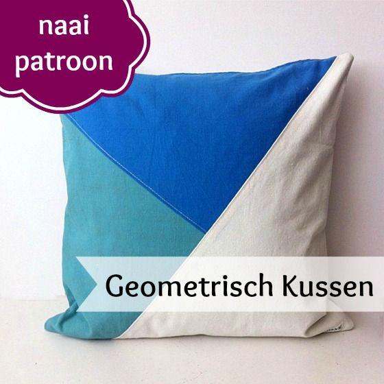 PDF Patroon Geometrisch Kussen - Sew Natural