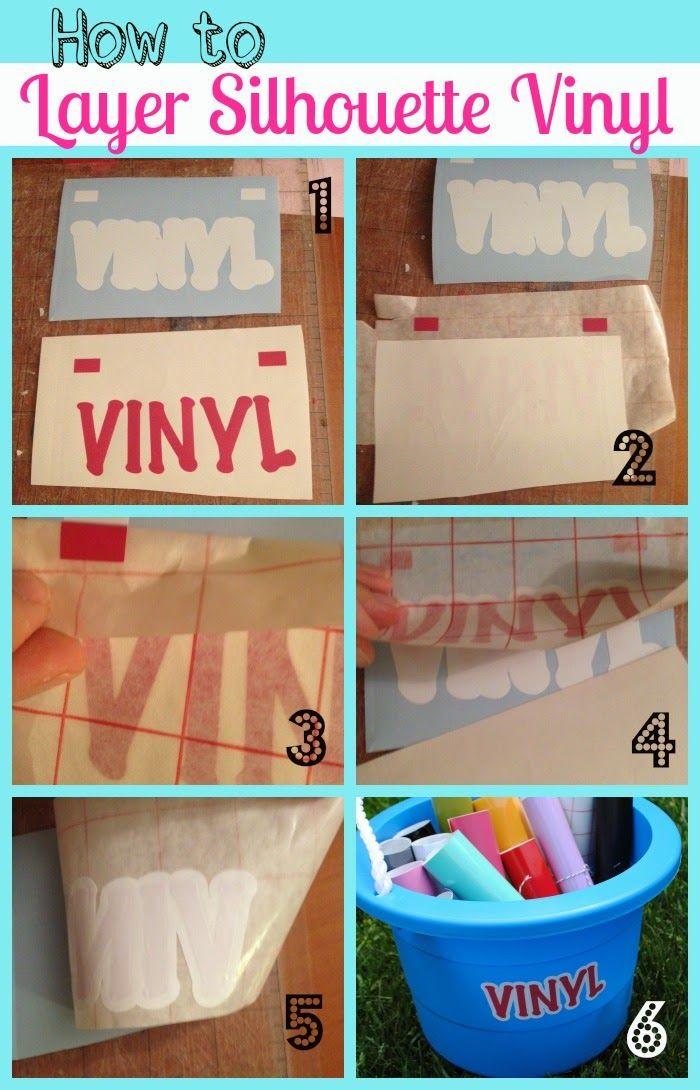 Silhouette Layering Vinyl Tutorial (The No-Fail Method) ~ Silhouette School