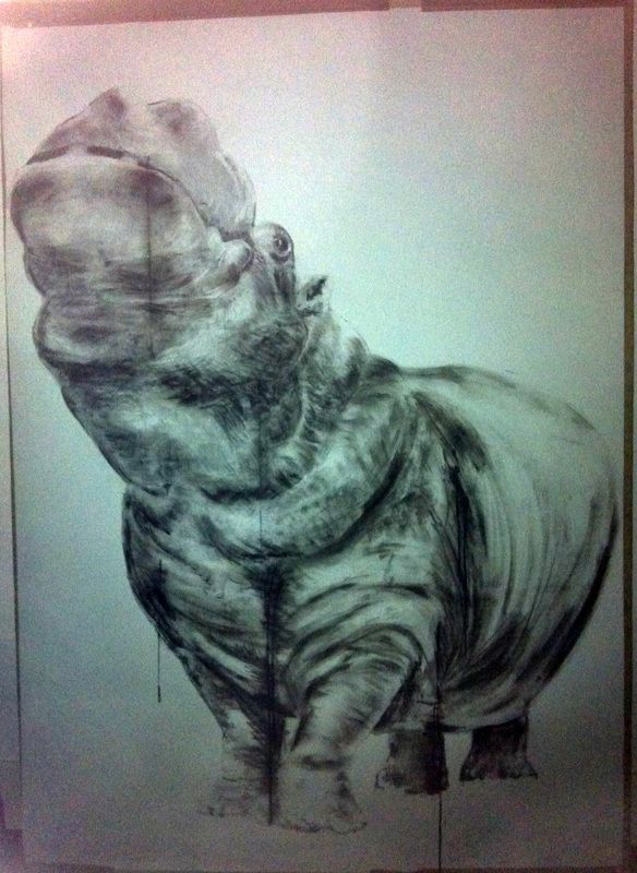 carboncino, inchiostro,grafite.  Ink, charcoal