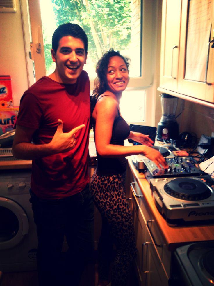 Hoyte & Tobler in the kitchen on the decks...