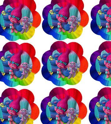 FREE Trolls Birthday Party Printable cupcake, banner, invitation files