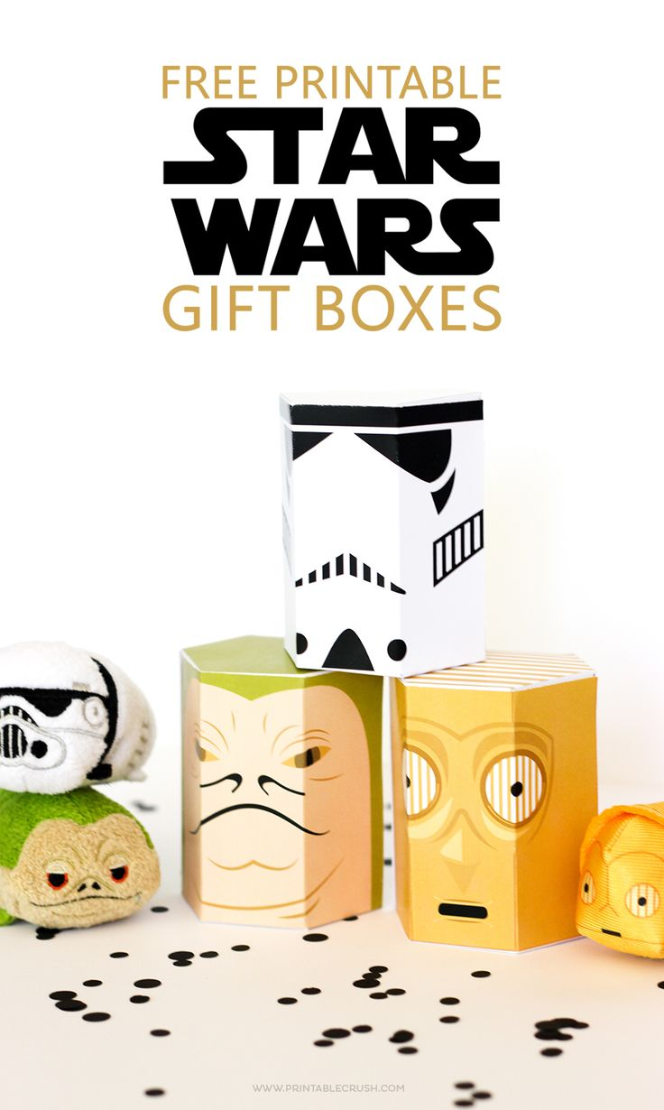 These FREE Star Wars Printable Gift Boxes are perfect for the Star Wars fan in…