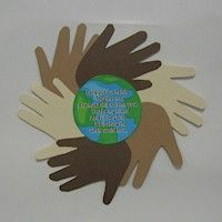 World Neighbors Handprint Poem Craft to show solidarity with girl scouts around the world. More multicultural crafts at freekidscrafts.com