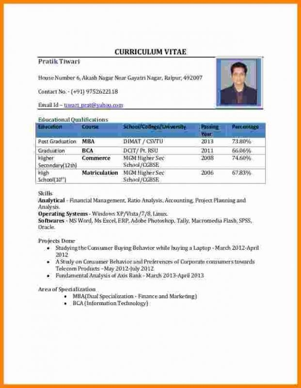Latest Resume Format 2013 Stunning A Perfect Resume Format Resume