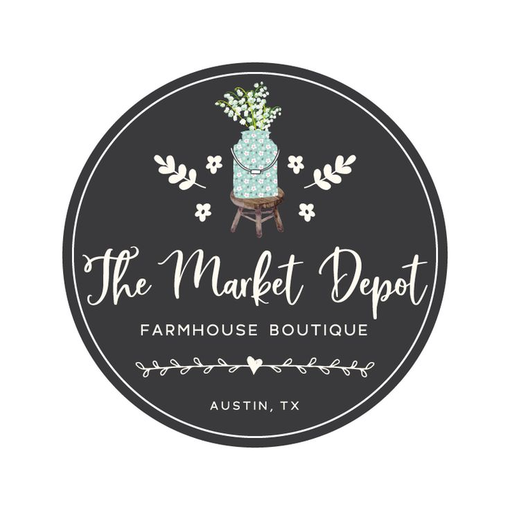 Floral Milk Can Premade Logo Design - Customized with Your Business Name!