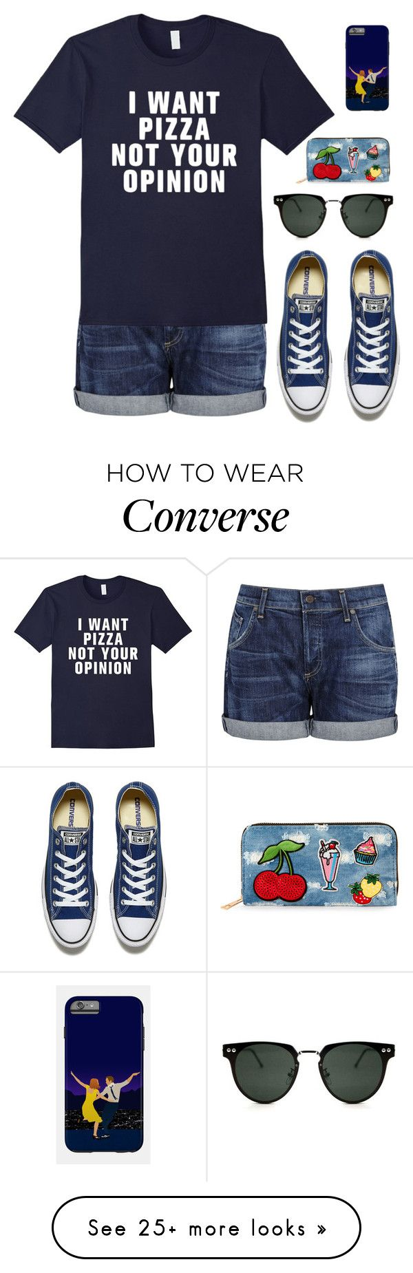 """Lazy shopping trip"" by lukeisalibero on Polyvore featuring Citizens of Humanity, Converse, Spitfire and Viola"
