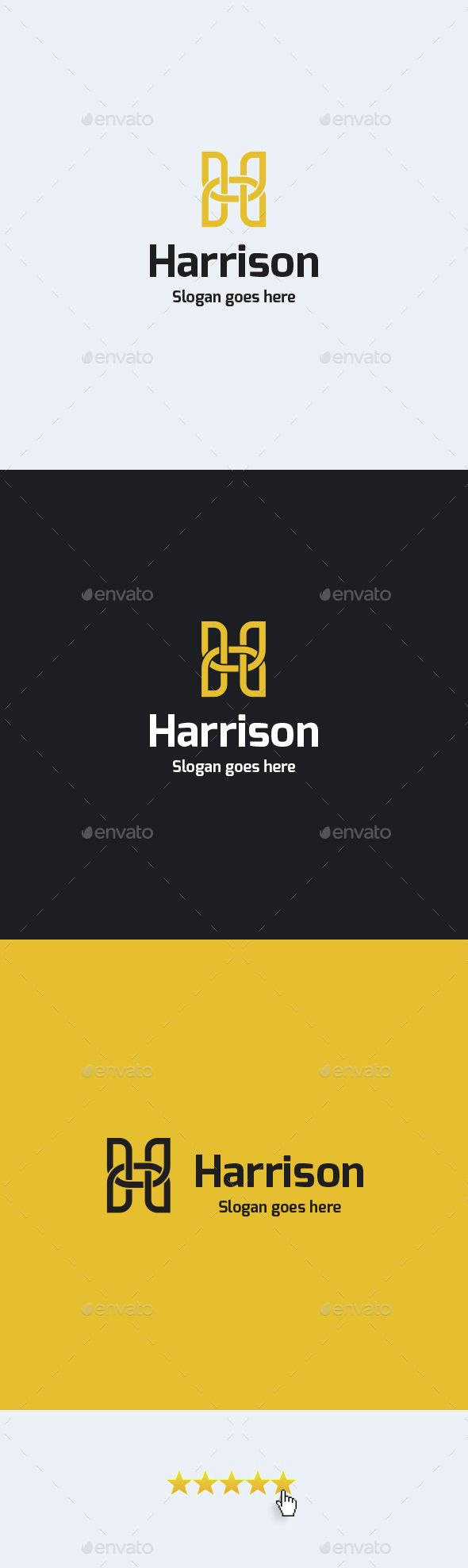 Harrison � Letter H - Logo Design Template Vector #logotype Download it here: http://graphicriver.net/item/harrison-letter-h-logo-template/14806139?s_rank=1554?ref=nexion