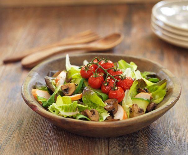 Recept: Gerooktekipsalade met kastanjechampignons | Gezond eten