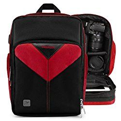 VanGoddy Sparta Fire Red Professionals Camera Backpack for Canon Professional Camcorders and Cinema EOS Series Video Cameras