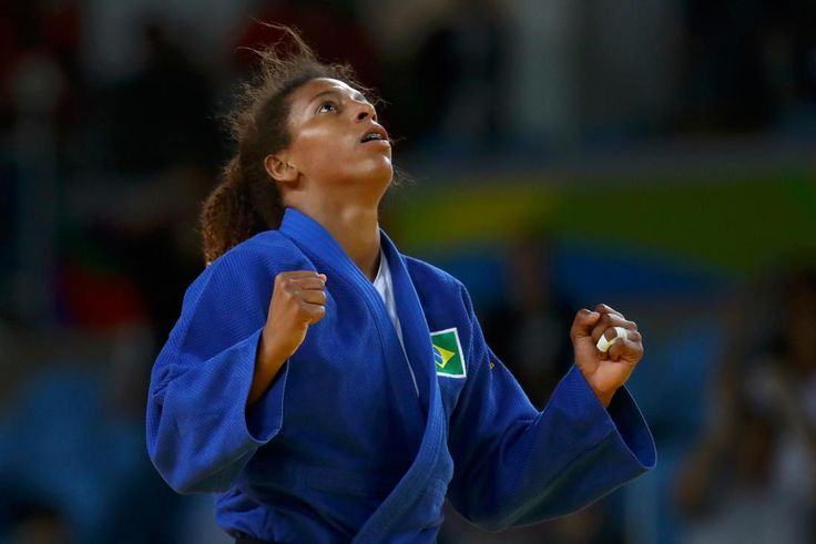 2016 Rio Olympics - Judo - Final - Women -57 kg Final - Gold Medal Contest - Carioca Arena 2 - Rio de Janeiro, Brazil - 08/08/2016. Rafaela Silva (BRA) of Brazil celebrates. REUTERS/Kai Pfaffenbach FOR EDITORIAL USE ONLY. NOT FOR SALE FOR MARKETING OR ADVERTISING CAMPAIGNS.
