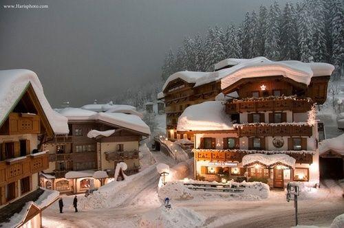 Mountain Village, Madonna di Campiglio, Italy  photo via katherine