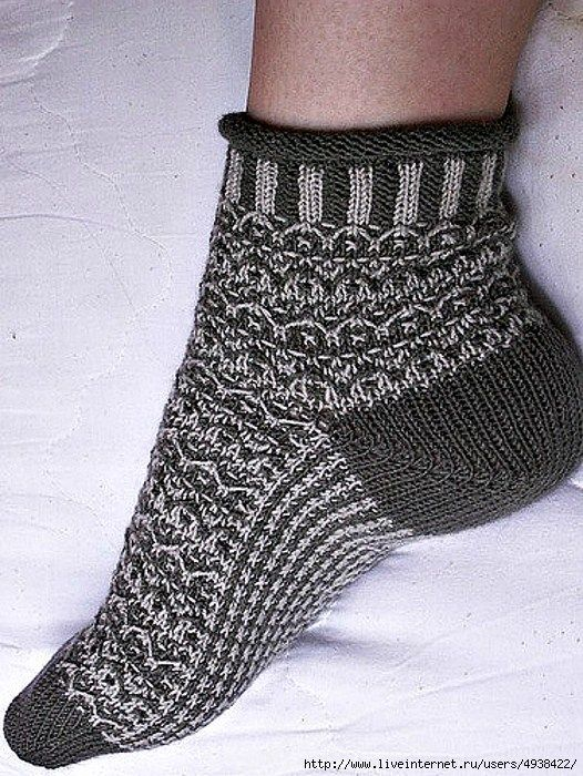 двухцветные носки Florenz вязание спицами журнал вдохновение