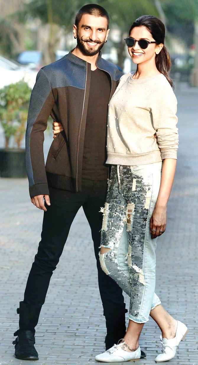 Ranveer Singh and Deepika Padukone at a promo event for #BajiraoMastani
