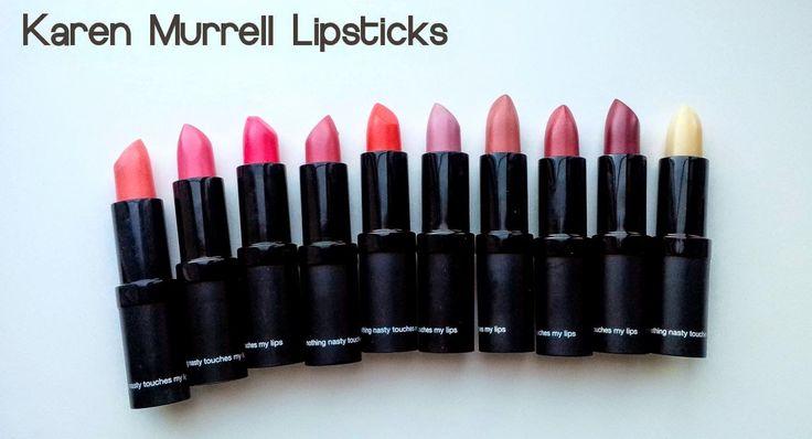 Karen Murrell Non-Toxic Lipsticks Review & Swatches