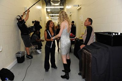 Taylor Swift backstage