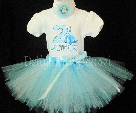 Birthday Cinderella Tutu Birthday Tutu Disney by DelightfullySassi