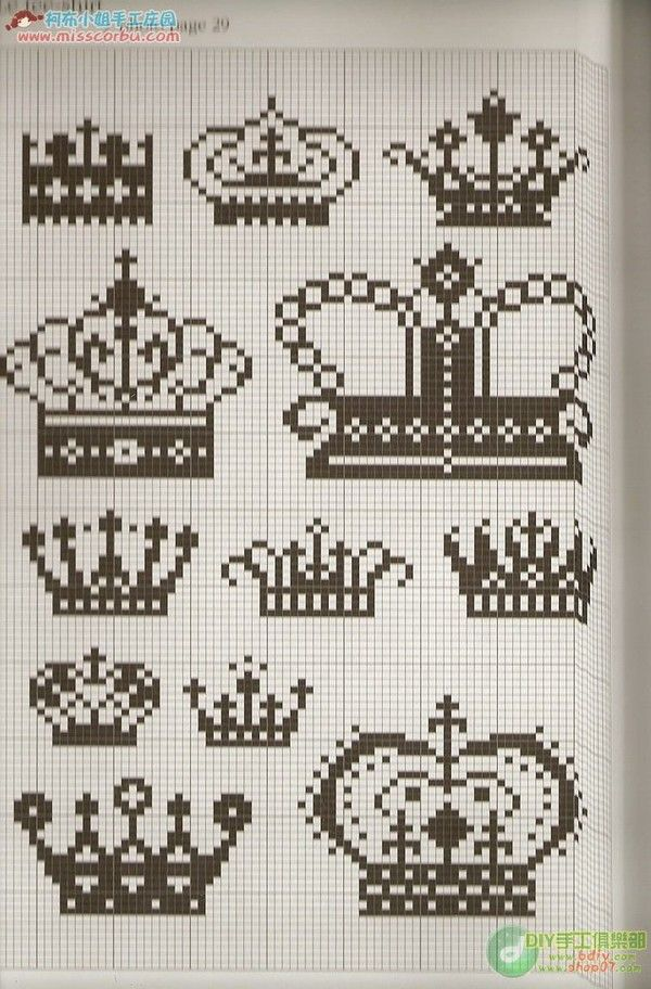 Patterns for crowns. Everyone needs a tiara now and then.