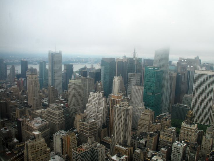 FROM THE TOP FLOOR OF THE EMPIRE STATE BUILDING