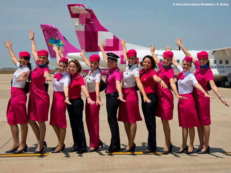 Voe Rosa com a AZUL - Linhas Aéreas Brasileiras