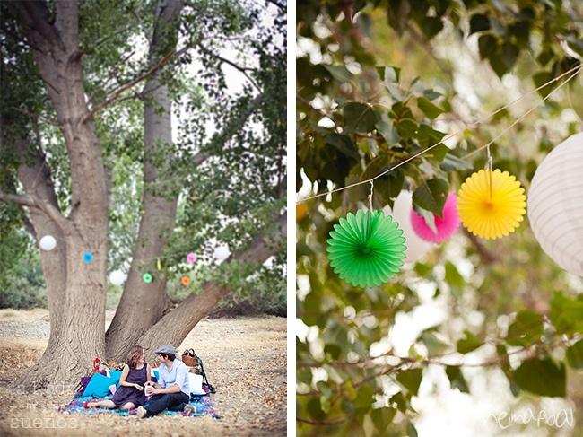Movie & picnic themed Engagement Design: La Boda de tus Sueños (www.labodadetussuenos.com) Photography: Neima Pidal