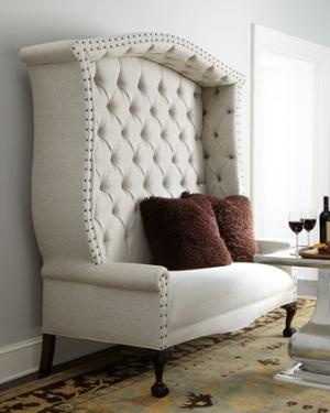 Tufted High Back Settee Furniture Frenzy Pinterest