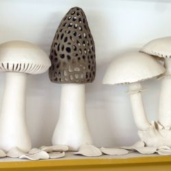 Sarah Véron is a french ceramic artist, making amazing mushroom lamps .