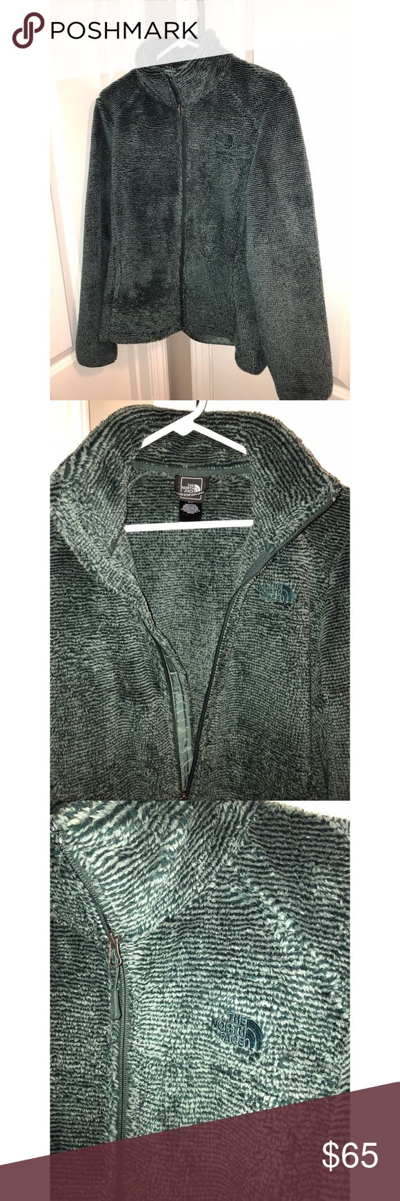 NWOT North Face Osito 2 zip up size Large No trades.... new without tags, The North Face Osito 2 fleece jacket in balsam green stripe. Women's size large. The North Face Jackets & Coats