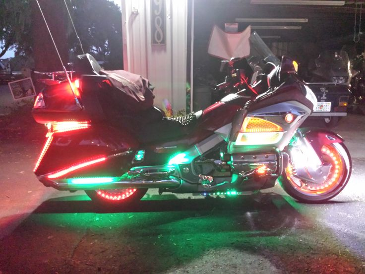 Added some LED lighting, ALL the lights on the bike are now LED