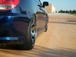 Hyundai Tiburon tuning wheels 18x8.5, ET  44, tire size 215/40 R18. 18x9.5 ET 33 235/40 R18