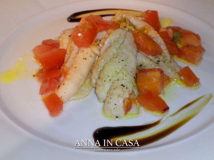 Oggi pesce con i  Filetti di nasello con cubetti di pomodoro e capperi/ Hake with tomatoes and capers  http://annaincasa.blogspot.gr/2016/09/filetti-di-nasello-con-pomodori-e.html?m=1  #annaincasa #annaincasablog