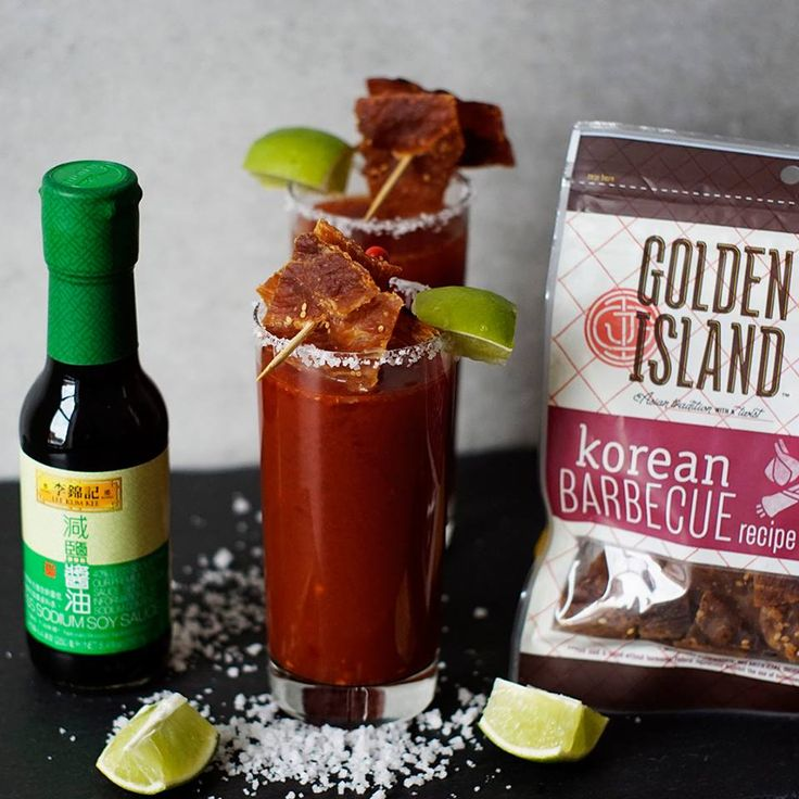Sit back and enjoy the weekend while sippin' on this Asian inspired Michelada made with Golden Island Jerky and Lee Kum Kee delicious Soy Sauce!