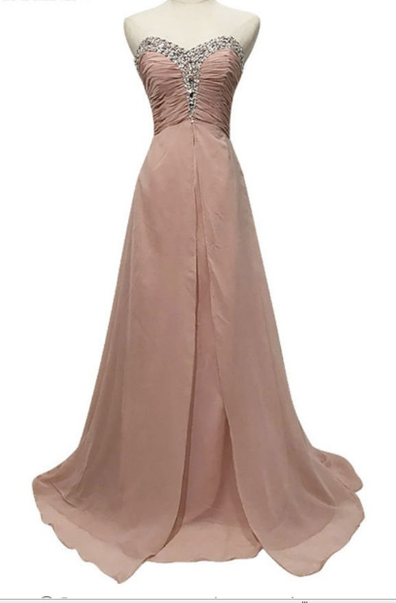 The new fashion formal medium rose sleeve gown
