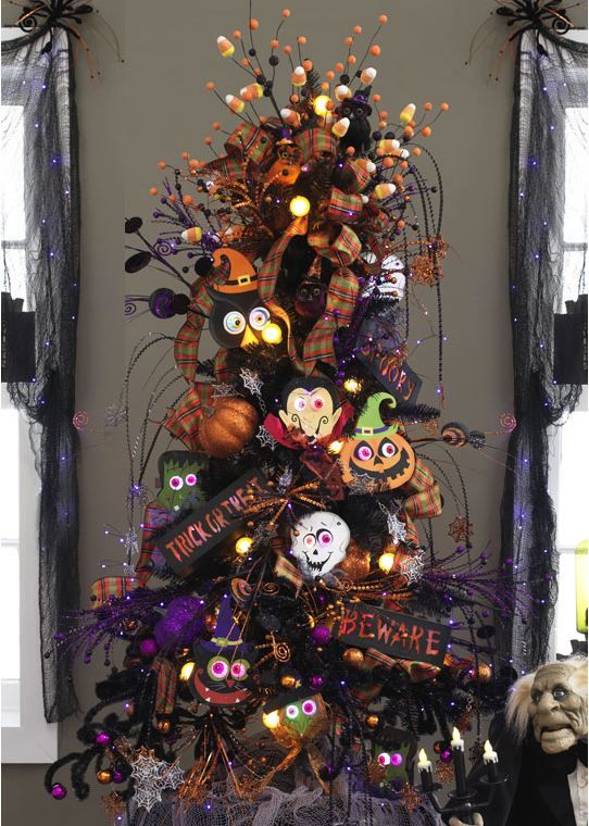 love this halloween tree halloween christmas treehalloween tree decorationsholiday - Halloween Christmas Decorations