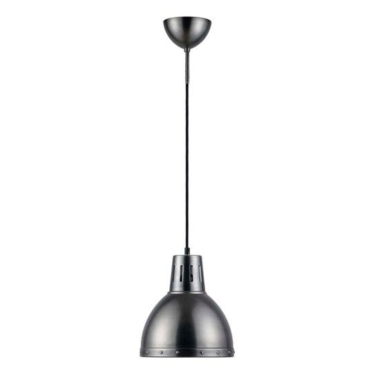 Viking taklampa från Texa Material: Metall Mått: Ø 23cm - H 26,5cm Ljuskälla: Max 240V 60W E27, Ingår Ej Krokupphäng, Svart tygsladd 1,3m med takkontakt ENERGIKLASS: A-E